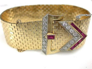 65654/Belt Buckle Bracelet Cynthia Findlay Antiques CFA1108128