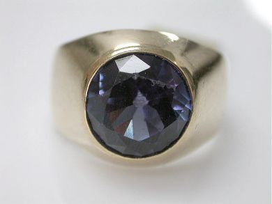 65654/Synthetic Sapphire Ring Cynthia Findlay Antiques CFA110932