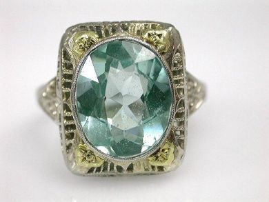 65768/Antique Synthetic Spinel Ring Cynthia Findlay Antiques CFA110797