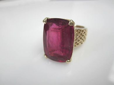 Vintage Tourmaline Solitaire Ring