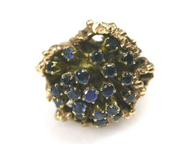 6600-November/Sapphire Cluster Ring Cynthia Findlay Antiques CFA1110125