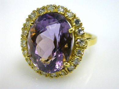 66027-December/Amethyst Cocktail Ring Cynthia Findlay Antiques CFA1111148