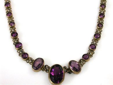 66027-December/Amethyst Necklace Cynthia Findlay Antiques CFA1111270