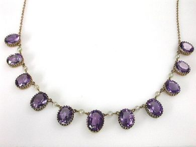 66027-December/Antique Amethyst Necklace Cynthia Findlay Antiques CFA1111271
