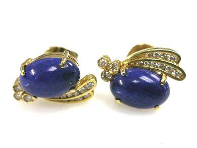 Diamond and Lapis Earrings