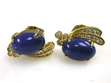 66027-December/Diamond and Lapis Earrings Cynthia Findlay Antiques CFA1111183
