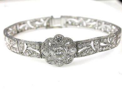 66027-December/Floral Diamond Bracelet Cynthia Findlay Antiques CFA1111175  2
