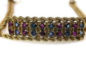 Sapphire and Ruby Bracelet