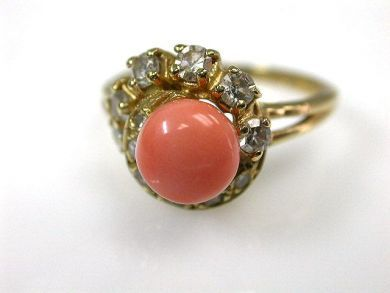 66027-December/Vintage Coral Ring Cynthia Findlay Antiques CFA1111293