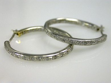 66068-November/Diamond Hoop Earrings Cynthia Findlay Antiques CFA1111130