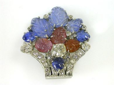 66068-November/Floral Basket Brooch Cynthia Findlay Antiques CFA1111125