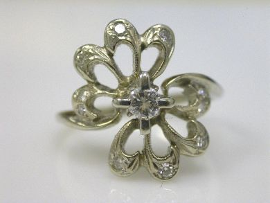 66068-November/Floral Cluster Ring Cynthia Findlay Antiques CFA111145