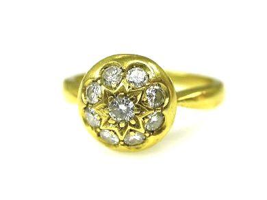 Vintage Rosette Diamond Cluster Ring