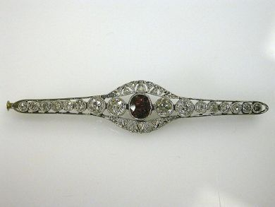 66068-November/Ruby and Diamond Brooch Cynthia Findlay Antiques CFA1111124