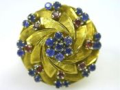 Sapphire Swirl Ring