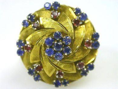 66068-November/Sapphire Swirl Ring Cynthia Findlay Antiques CFA111186