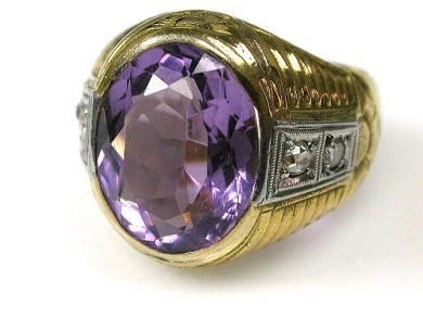 66338-December/Amethst Ring Cynthia Findlay Antiques CFA111217