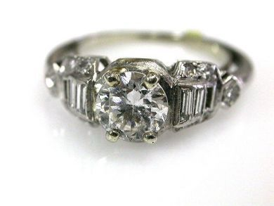 66338-December/Art Deco Engagment RIng Cynthia Findlay Antiques CFA111274