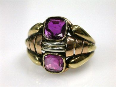 66338-December/Retro Ruby Ring Cynthia Findlay Antiques CFA111255