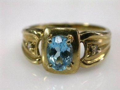 66395-January/Blue Topaz Ring Cynthia Findlay Antiques CFA1112120