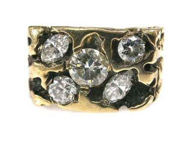 66395-January/Diamond Nugget Ring Cynthia Findlay Antiques CFA1112203