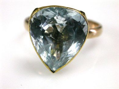 Pear Shaped Aqua Ring