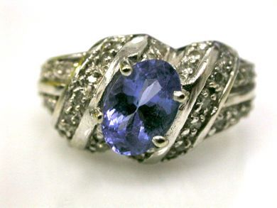 66395-January/Tanzanite Cluster Cynthia Findlay Antiques CFA1112245