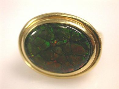 66711-January/Ammolite Ring Cynthia Findlay Antiques CFA1112286