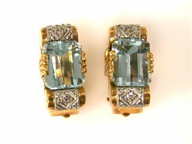 66711-January/Aquamarine Earrings Cynthia Findlay Antiques CFA1112370