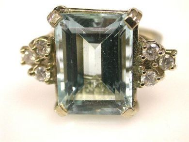 66711-January/Aquamarine Ring Cynthia Findlay Antiques CFA1112436