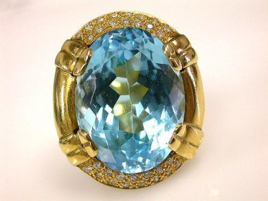 66711-January/Blue Topaz Ring Cynthia Findlay Antiques CFA1112437
