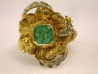66711-January/Emerald Cluster Cynthia Findlay Antiques CFA1112334