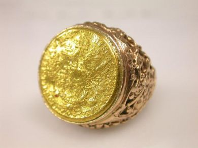 1915 Hungarian Gold Coin Ring