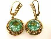 Green Spinel Earrings