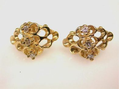 66711-January/Openwork Nugget Earrings Cynthia Findlay Antiques CFA1112361