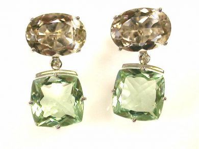 66711-January/Prasiolite Earrings Cynthia Findlay Antiques CFA1112372