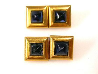 66711-January/Sapphire Cufflinks Cynthia Findlay Antiques cfa1112277