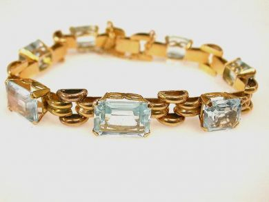 66849-January/Aquamarine Bracelet Cynthia Findlay Antiques CFA120170