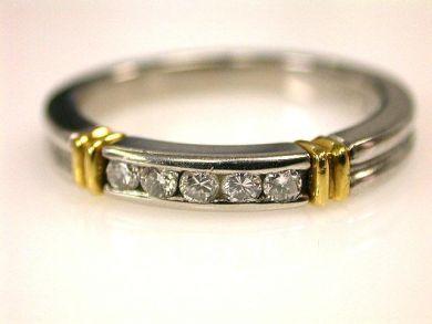 66849-January/Diamond Half Eternity Band Cynthia Findlay Antiques CFA120128