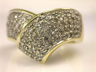 66849-January/Diamond Overlap Ring Cynthia Findlay Antiques CFA120135