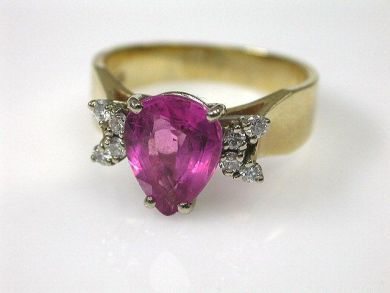 66849-January/Pink Tourmaline Ring Cynthia Findlay Antiques CFA1111210