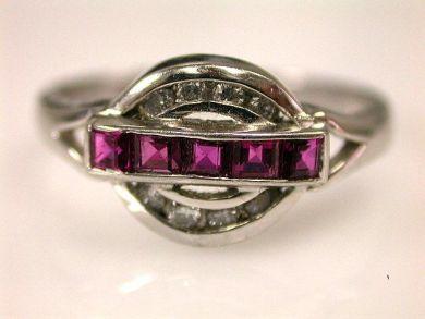 66849-January/Ruby and Diamond Ring Cynthia Findlay Antiques CFA120148