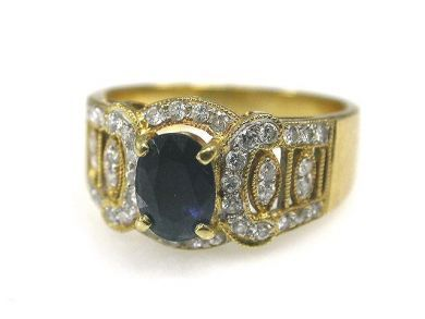 66849-January/Sapphire and Diamond Ring Cynthia Findlay Antiques CFA1112176