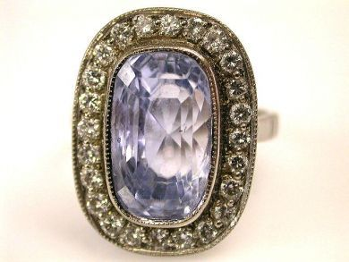 66849-January/Sapphire and Diamond Ring Cynthia Findlay Antiques CFA120153