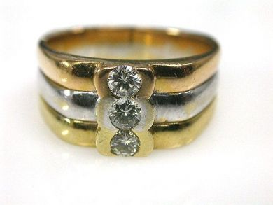 66849-January/Tricoolour Gold Ring Cynthia Findlay Antiques CFA1112174