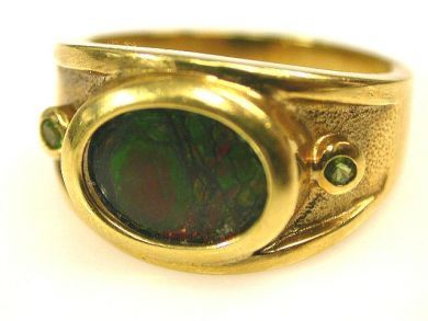 66891-February/Ammolite Ring Cynthia Findlay Antiques CFA1201130 1