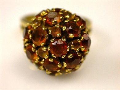 66891-February/Citrine Cluster Ring Cynthia Findlay Antiques CFA1201147 1