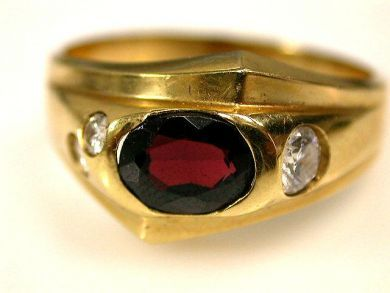 66891-February/Garnet Solitaire Cynthia Findlay Antiques CFA1201122