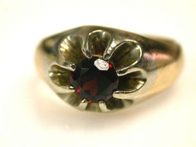 66891-February/Garnet Solitaire Cynthia Findlay Antiques CFA1201125 1