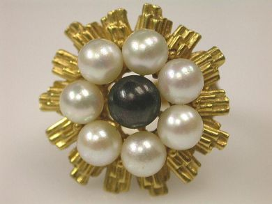 66891-February/Pearl Cluster Ring Cynthia Findlay Antiques CFA1201152